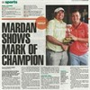 Mardan Mamat Becomes Champion at Home