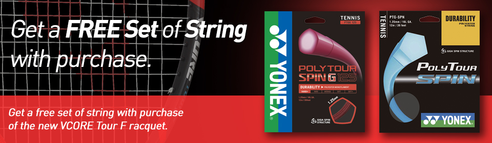 YONEX-Tennis-String Promotion-VCORE TOUR F